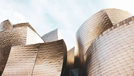 The iconic angular exterior of the Guggenheim museum in bilbao