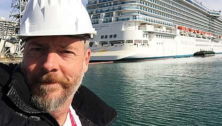 Martyn Moss at the ship yard