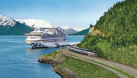 Denali Express Train With Sapphire Princess in Alaska