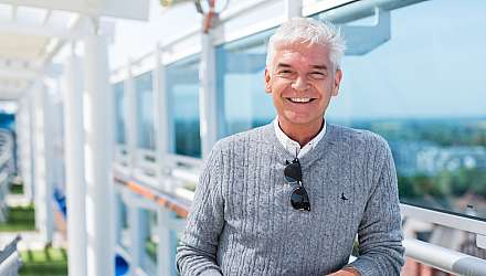 Phillip Schofield on board Regal Princess