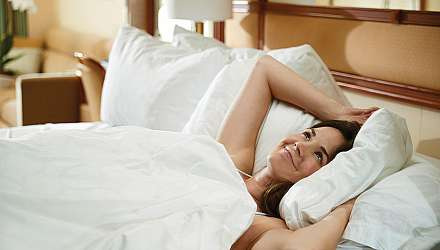 Princess Cruises woman in bed