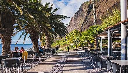 A beach café in Madeira, Portugal