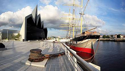 River Clyde Glasgow with ship