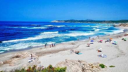 People on beach in Sardinia