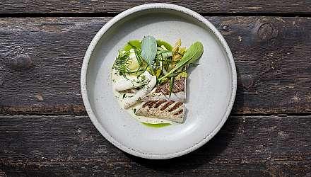 Plate of food at Noto, Edinburgh