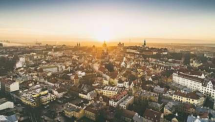 Aerial shot of Tallinn