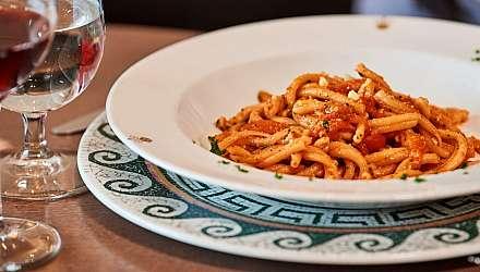 Pasta and wine at Sabatini's