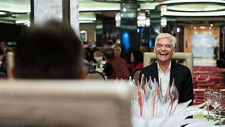 Phillip Schofield dining onboard Regal Princess
